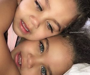 eyes, twins, and baby image