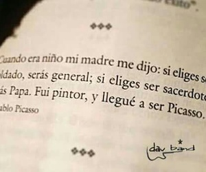 books, frases, and picasso image