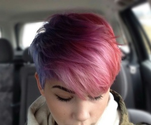 galaxy, hair, and pixie image