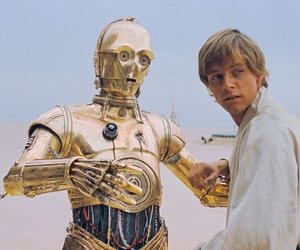 C-3PO, luke skywalker, and photography image
