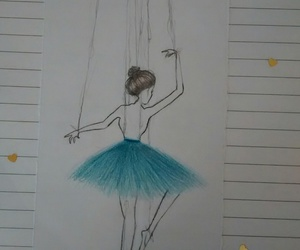 ballet, draw, and love image