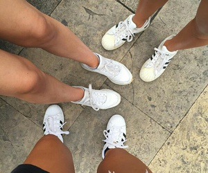 friendship, shoes, and girls image