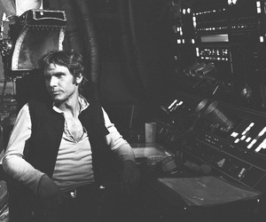 black & white, han solo, and photography image