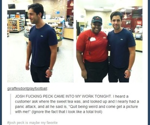 funny, Josh Peck, and table image