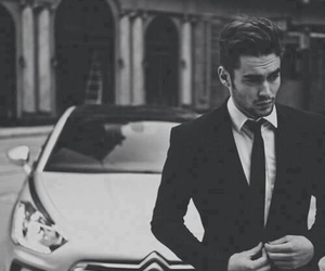 car, boy, and suit image