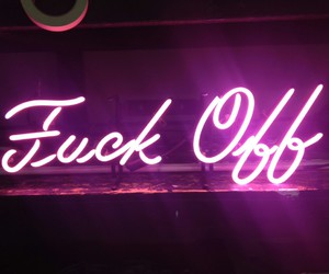 fuck, neon, and off image
