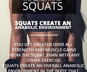 fitness, squats, and exercise image