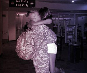 airport, homecoming, and military image