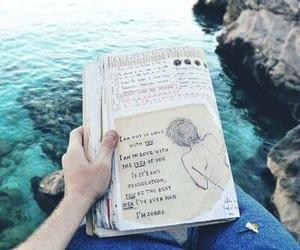 book, sea, and grunge image