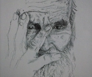 drawing and old man image