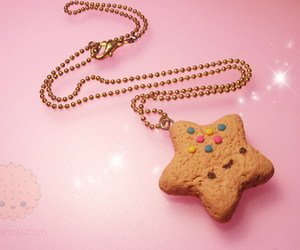 cookie, necklace, and star image
