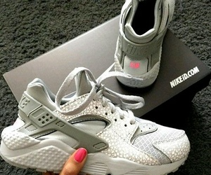 nike, huarache, and grey image