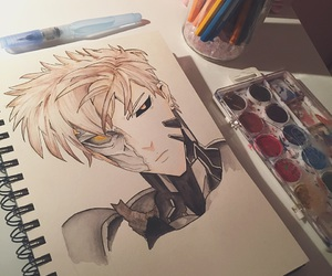 anime, drawing, and opm image