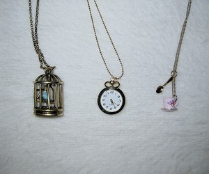 necklace, clock, and accessories image