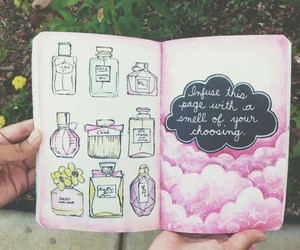 wreck this journal, perfume, and pink image