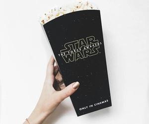 popcorn, black, and star wars image