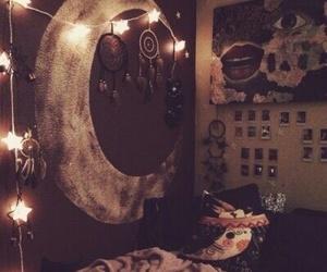 bedroom, moon, and room image