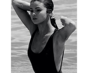 selena gomez, beach, and bikini image