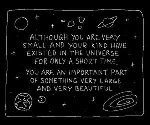quotes, black, and space image