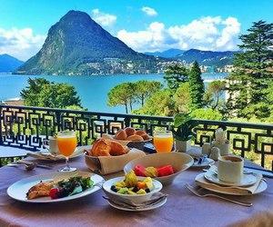 breakfast, ocean, and sea image