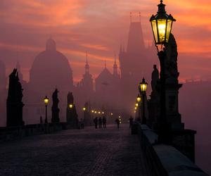 prague, light, and city image