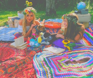 hippie, flowers, and tumblr image