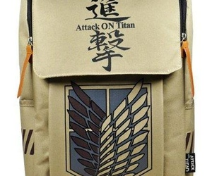 anime, attack on titan, and backpack image