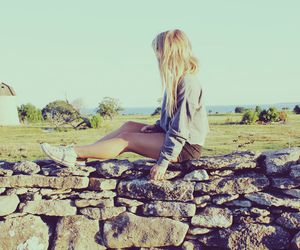 converse, girl, and nature image