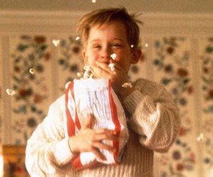 home alone, christmas, and popcorn image