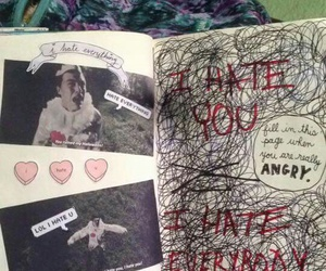 book, draw, and hate image