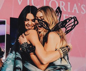 friend, kendall jenner, and victoria secret image