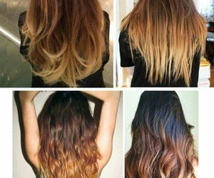 ombre, hair, and hairstyle image
