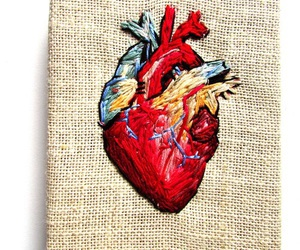 art, embroidery, and heart image