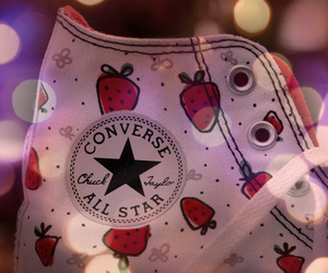 converse, strawberry, and shoes image