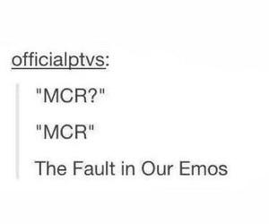 mcr, emo, and funny image