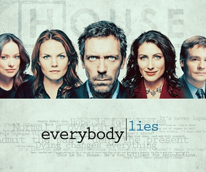 Dr. House, lisa cuddy, and everybody lies image