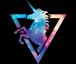 unicorn, galaxy, and wallpaper image