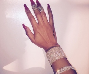 nails, luxury, and tattoo image