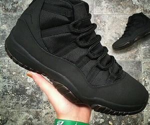 black, shoes, and jordans image