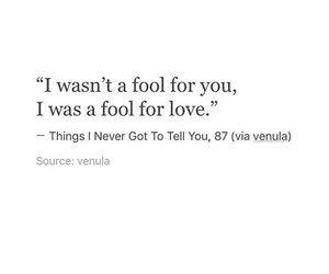 fool, love, and quotes image