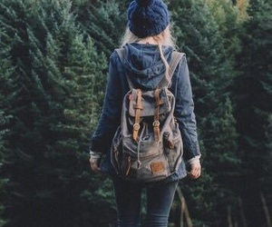 adventure, backpack, and forest image
