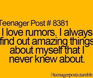 rumors, teenager post, and quote image