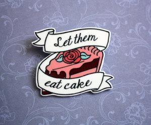 etsy, key ring, and let them eat cake image