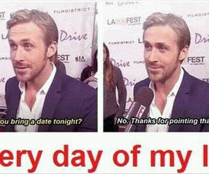 funny, Hot, and ryan gosling image