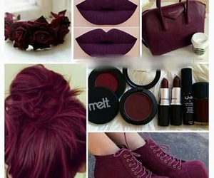 maroon, burgundy, and hair image