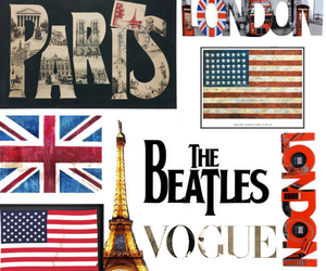 american, beatles, and eiffel tower image