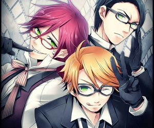 black butler, william t. spears, and grell sutcliff image