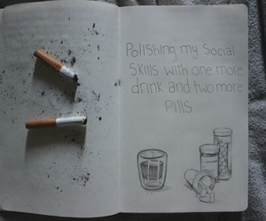 cigarette, grunge, and quote image