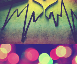heart, music, and light image