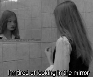 sad, mirror, and quotes image